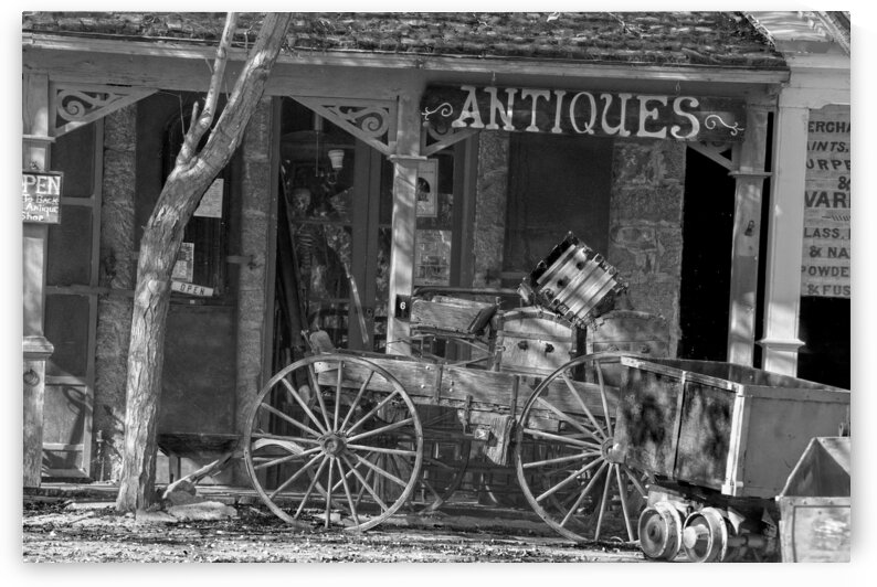 Antique Shop BW by Frank Wilson