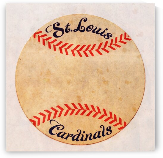 St. Louis Cardinals Vintage Baseball Art by Row One Brand