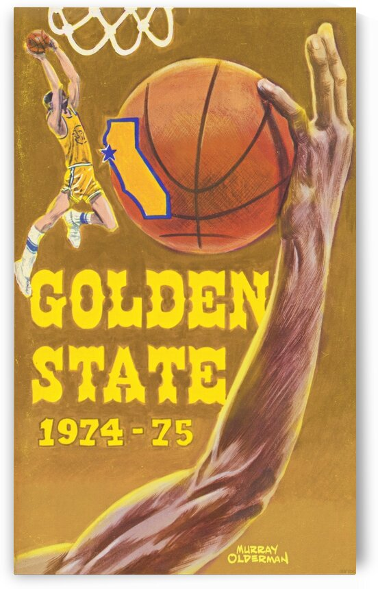 1974 Golden State Warriors Retro Poster by Row One Brand