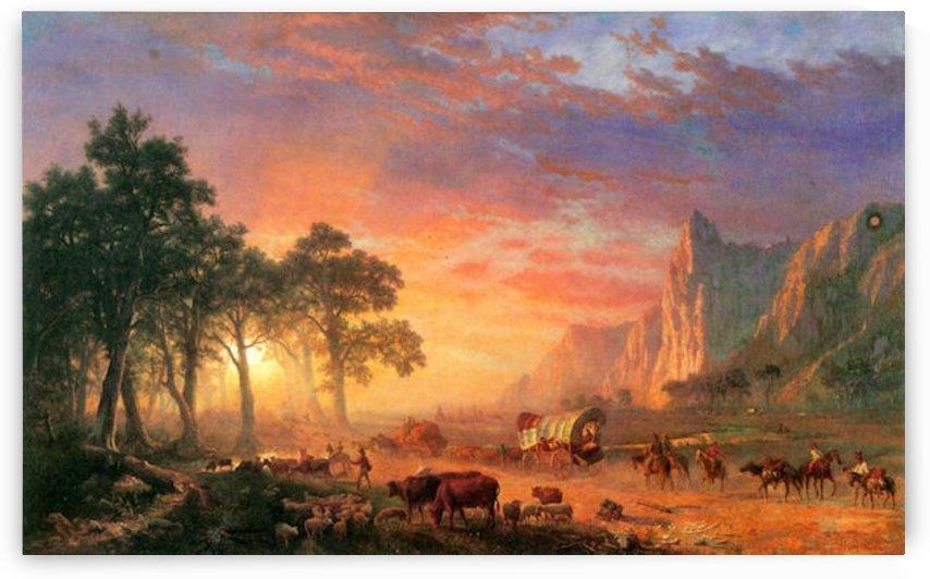 The Oregon Trail by Bierstadt by Bierstadt