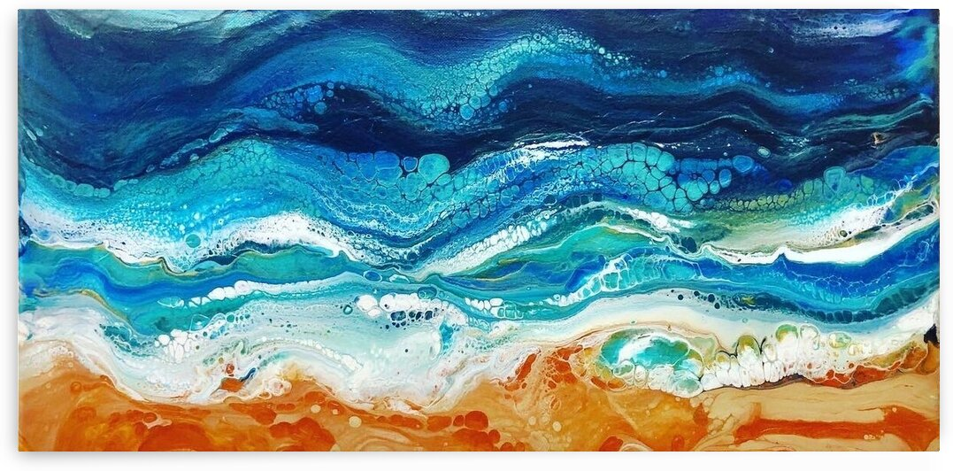 Abstract Beach  by Ashley N Boggs
