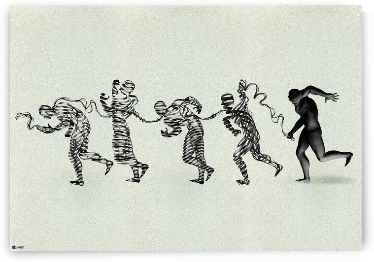 Whip on the body of humanity by Shahrokh heidari