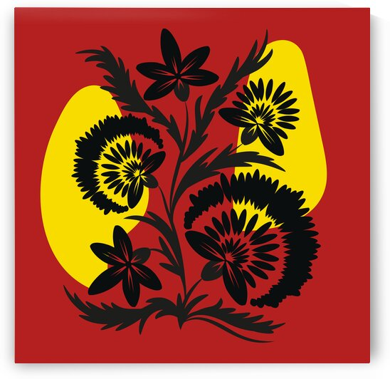Black flowers by Eskimos