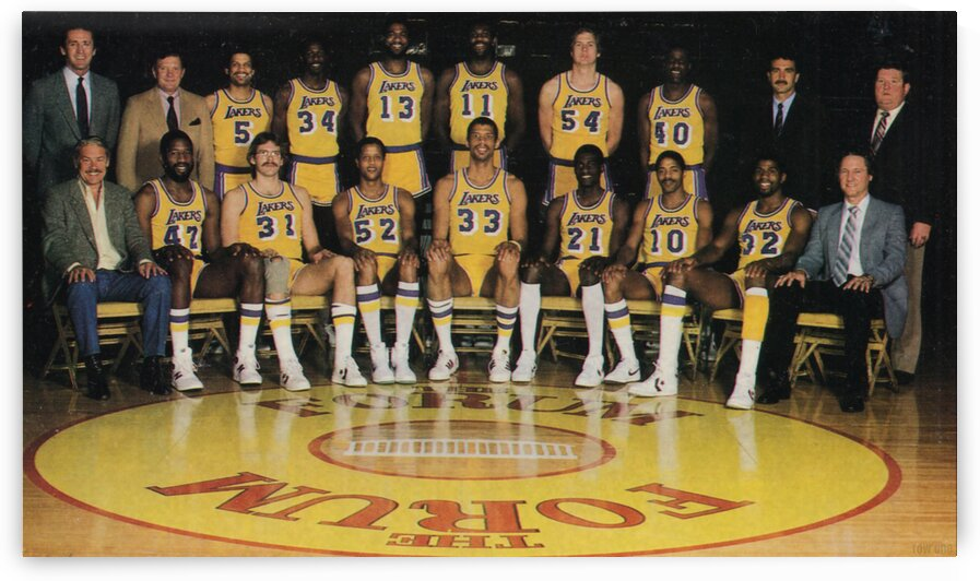 1982 Los Angeles Lakers Team Photo Poster by Row One Brand
