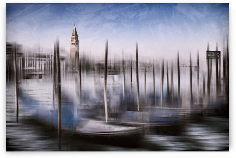 Digital-Art VENICE Grand Canal and St Mark's Campanile by Melanie Viola