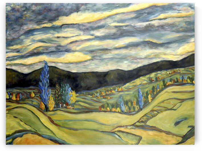 Fall Landscape by Deborah Alastra