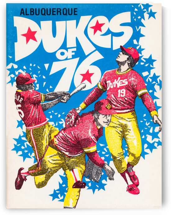 1976 Albuquerque Dukes Baseball Poster by Row One Brand