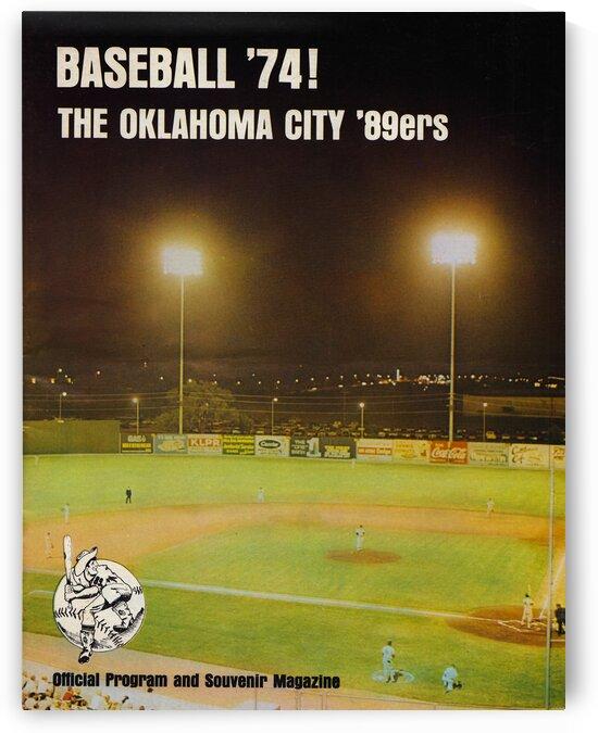 1974 Oklahoma City 89ers Baseball Poster by Row One Brand