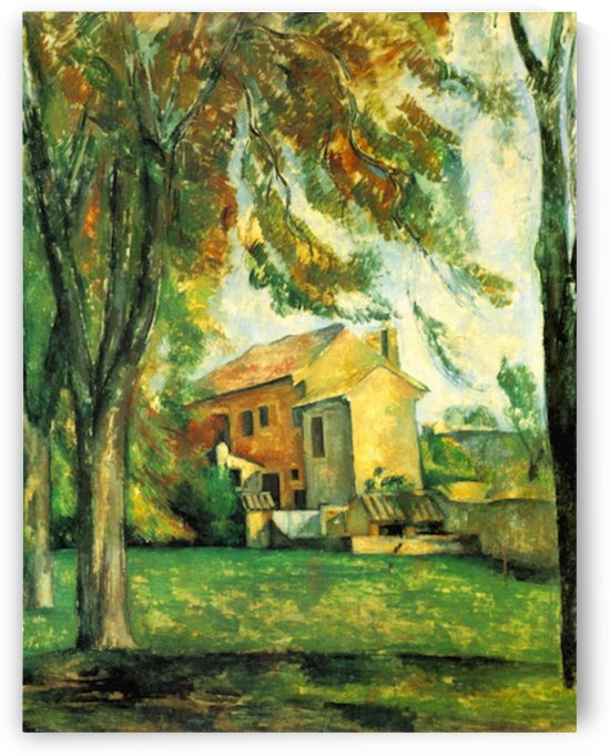 The Pond of the Jas de Bouffan in Winter by Cezanne by Cezanne