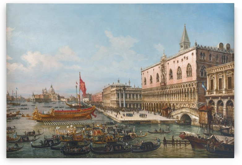 The Departure of the Bucintoro from San Marco to San Nicolo Del Lid by Francesco Zanin