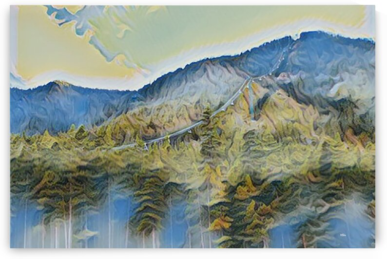 BANFF GONDOLA CANADIAN ROCKIES LANDSCAPE by Maria Desnoyers Art Print Collection By:Zo