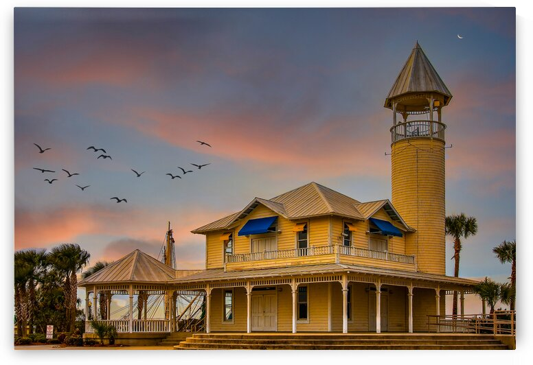 Pavilion House and Tower at Dusk by Darryl Brooks