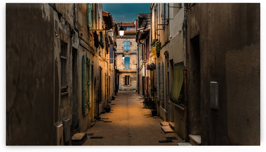 Evening Street in Provence by bj clayden photography