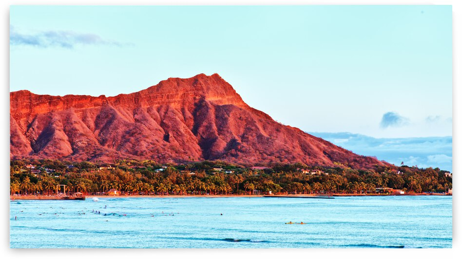 Diamond Head at sunset by Dave Tonnes