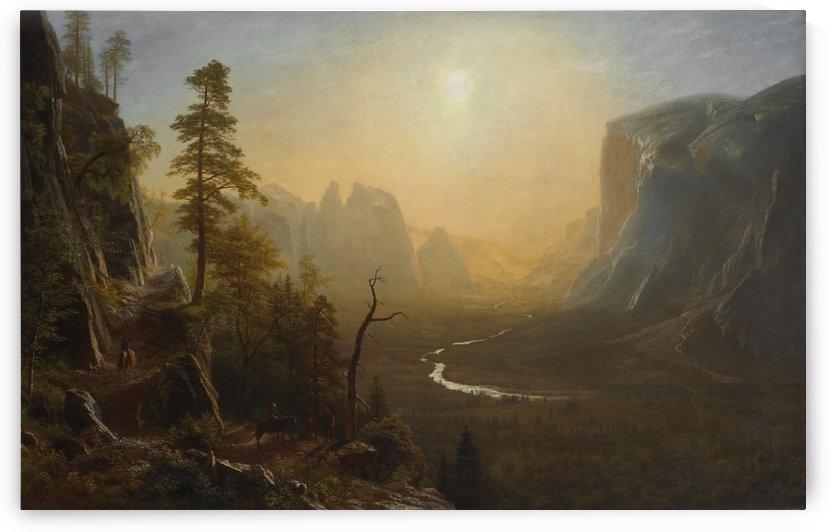 Yosemite Valley, Glacier Point Trail by Albert Bierstadt