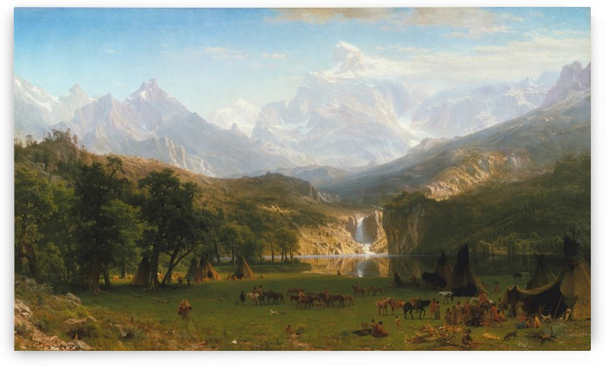 The Rocky Mountains, Lander Peak by Albert Bierstadt