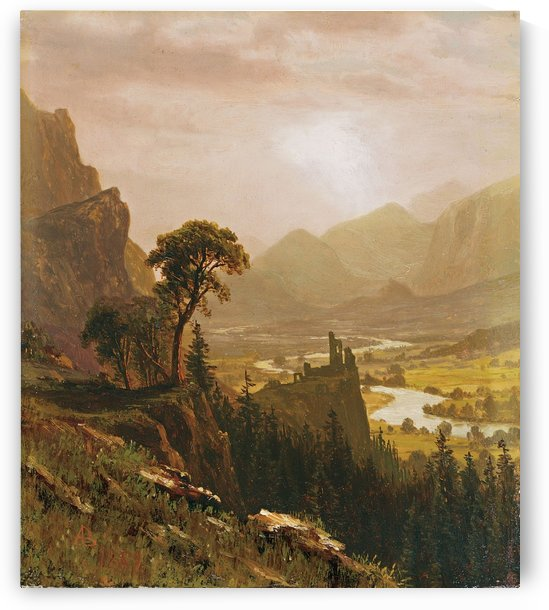 Sunset in the Mountains, 1859 by Albert Bierstadt