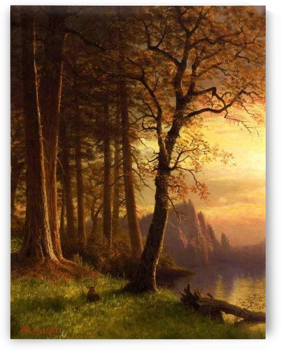 Sunset in California, Yosemite by Albert Bierstadt