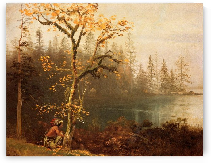 Indian scout by Albert Bierstadt