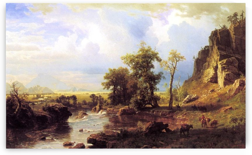 North Fort of the Platte River Nebraska by Albert Bierstadt
