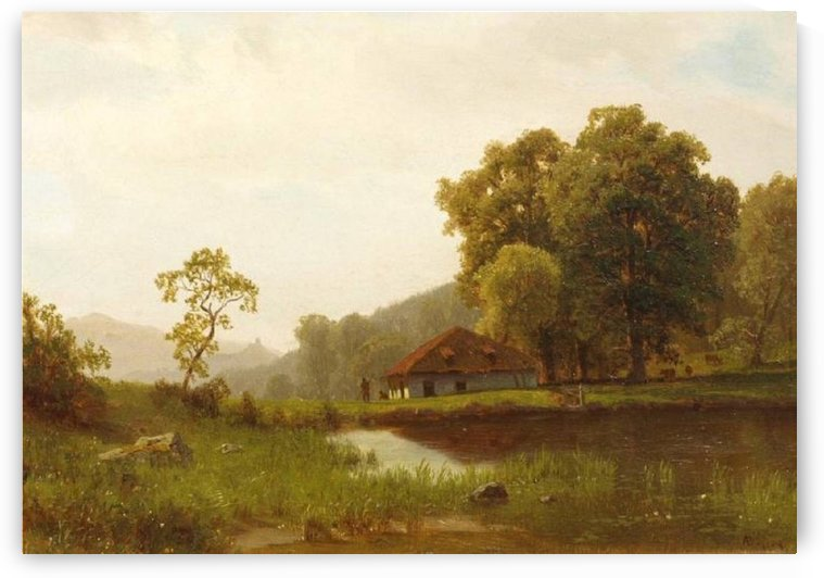 Landscape with Cottage, 1859 by Albert Bierstadt