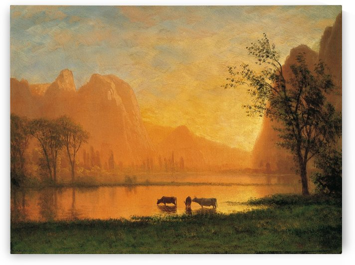 Sundown in Yosemite by Albert Bierstadt