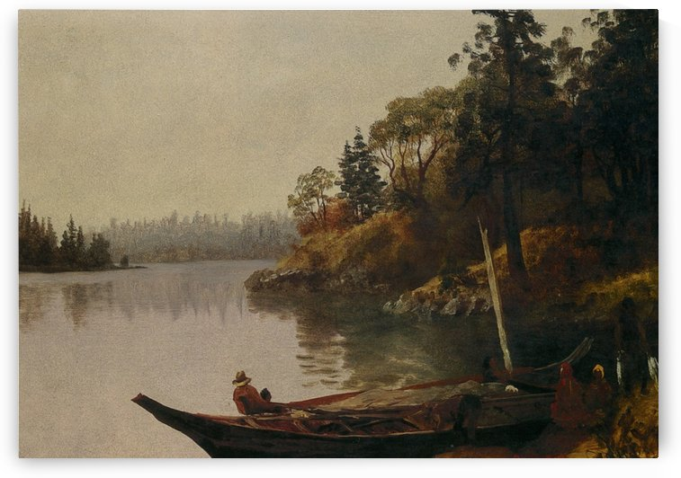 Fishing on the Northwest Coast by Albert Bierstadt