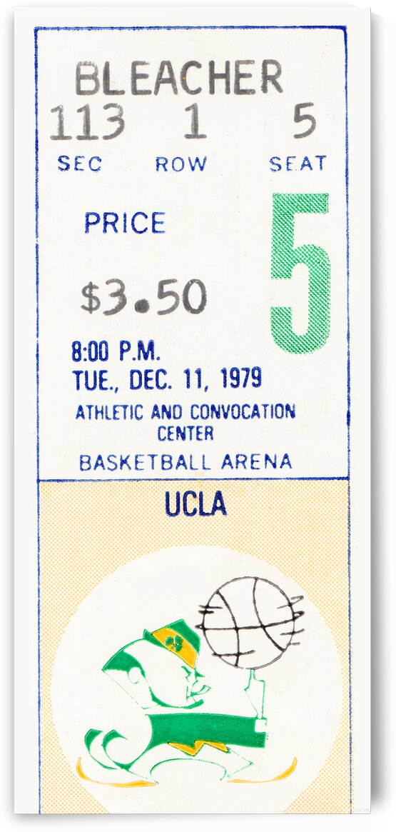 1979 UCLA vs. Notre Dame Basketball Ticket Poster by Row One Brand