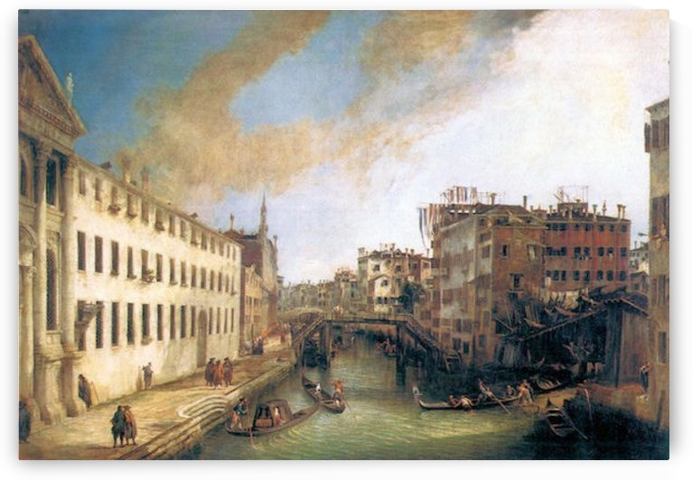 The River of Mendicanti by Canaletto by Canaletto