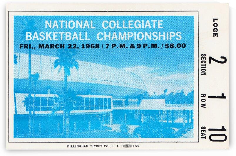 1968 NCAA Finals UCLA vs. Houston by Row One Brand