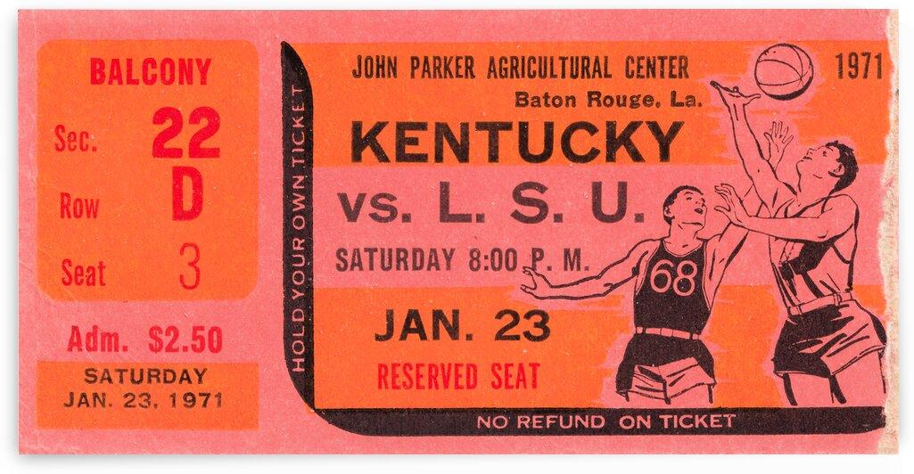 1971 LSU vs. Kentucky Basketball Ticket Stub by Row One Brand