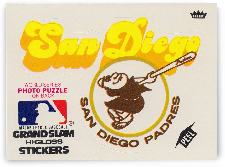 1981 Fleer San Diego Padres Decal Poster by Row One Brand