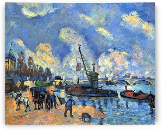 The Seine at Bercy by Cezanne by Cezanne
