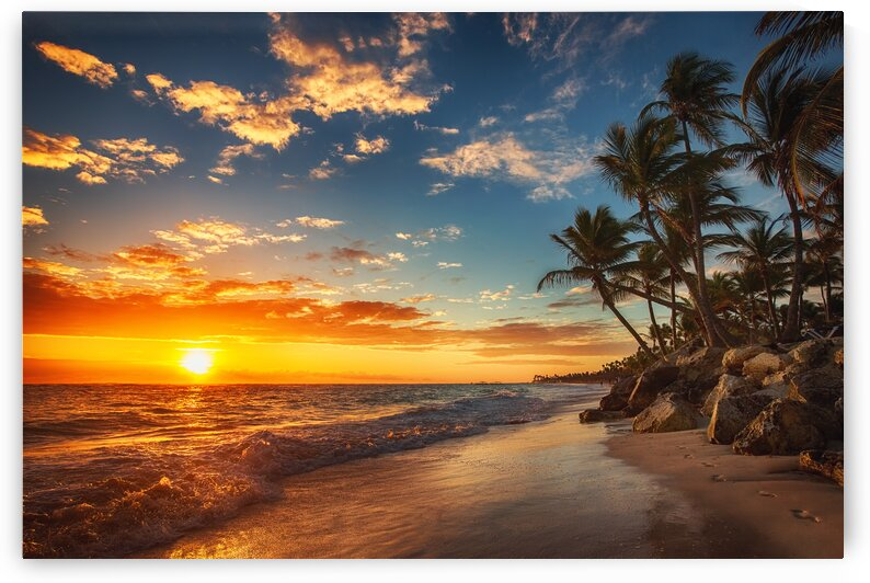 Punta Cana Sunrise Beach Dominican Travel by 7ob