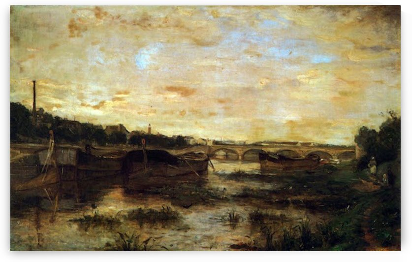 The Seine beneath the Pont by Morisot by Morisot