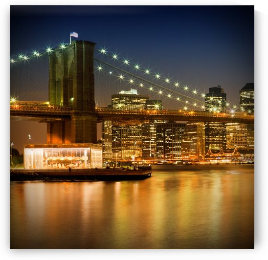 Night-Skylines NEW YORK CITY by Melanie Viola