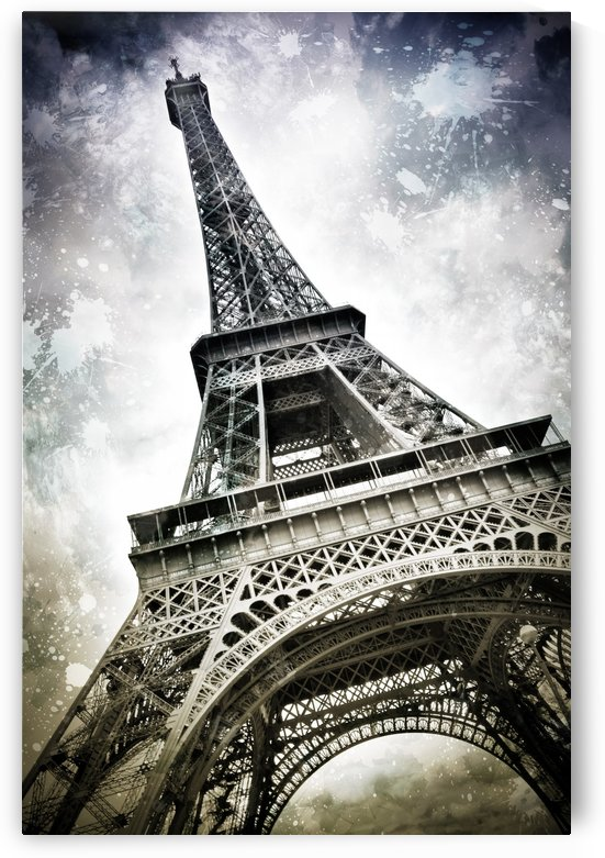 Modern-Art PARIS Eiffel Tower Splashes by Melanie Viola