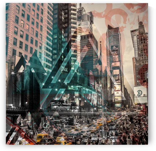 New York City Geometric Mix No. 4 by Melanie Viola