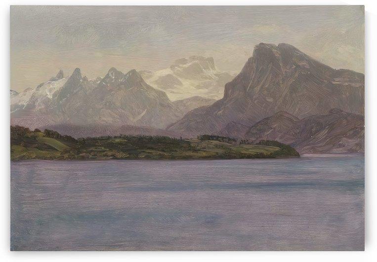 Alaskan Coast Range by Albert Bierstadt