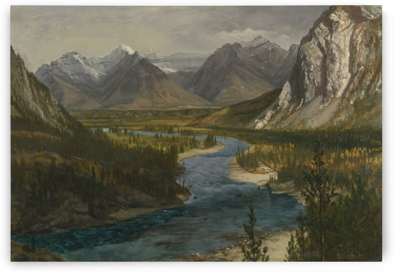 Bow River Falls Canadian Rockies by Albert Bierstadt