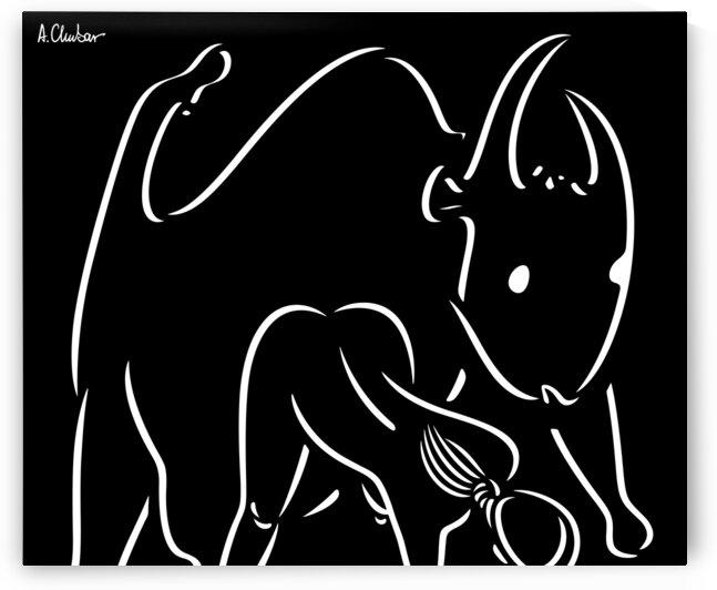 Pasiphae and the Bull by Alexander Chubar