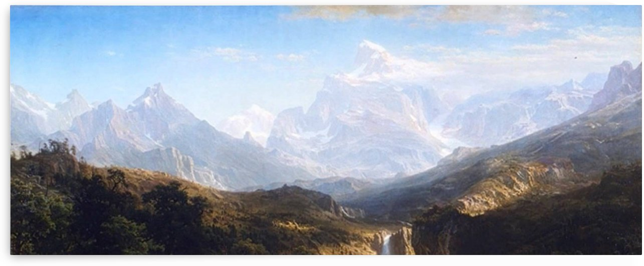 Rocky Mountains, Landers Peak by Albert Bierstadt
