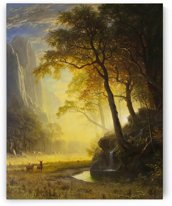 Hetch Hetchy Canyon, 1875 by Albert Bierstadt