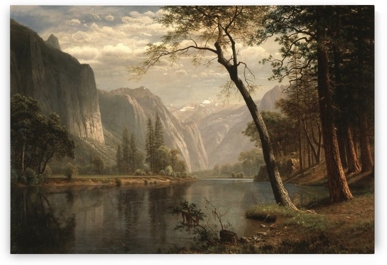 On the Merced River by Albert Bierstadt