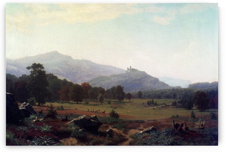 Autumn in the Conway Mountains Looking Towards Mount Washington by Albert Bierstadt