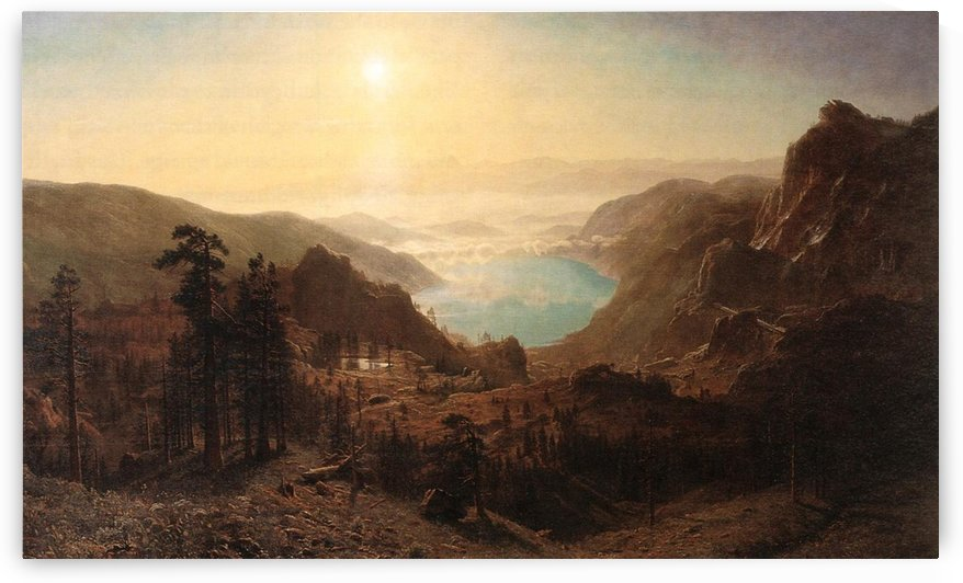 Donner Lake from the Summit, 1873 by Albert Bierstadt