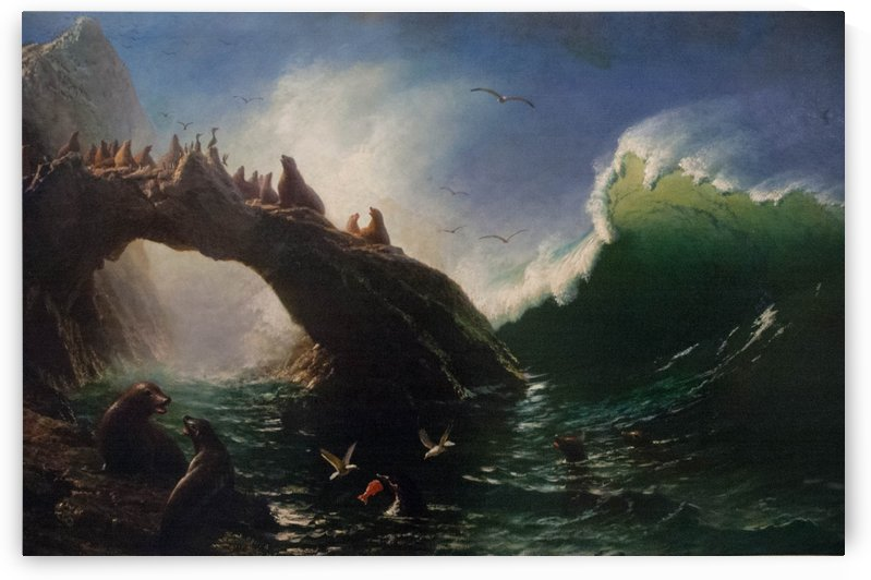 Farallon Island, 1887 by Albert Bierstadt