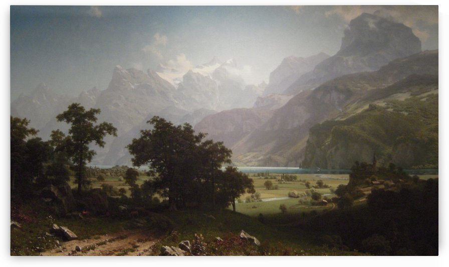 Lake Lucerne, 1858 by Albert Bierstadt
