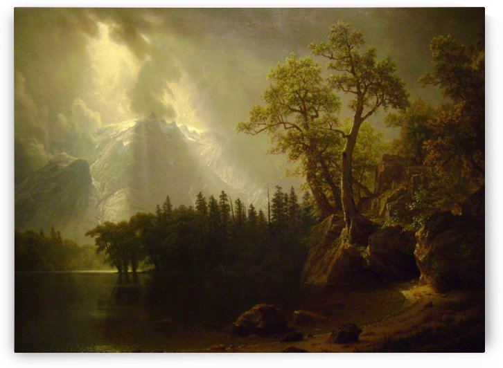 Passing Storm over the Sierra Nevadas, 1870 by Albert Bierstadt