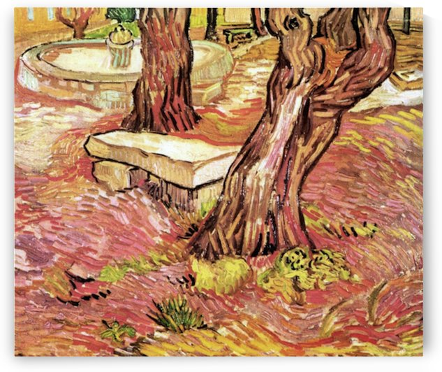 The Stone Bench in the Garden of Saint-Paul Hospital by Van Gogh by Van Gogh